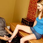 First pic of Blond-haired and skinny teen learns about big stiff cocks today - IamXXX.com
