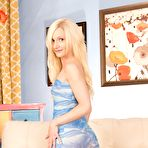 First pic of Long-legged blonde in see-through panties decides to strip slowly - IamXXX.com