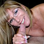 First pic of Amateur grandma Jessica Sexxxton gives wet blowjob