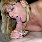 Fourth pic of Amateur grandma Jessica Sexxxton gives wet blowjob