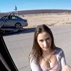 First pic of Fucking A Beautiful Hitchhiker Brunette In His Van - aTeenPorn.net