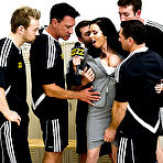Second pic of Veronica Avluv gets gangbanged by five guys from the soccer team