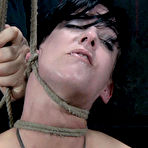 First pic of SexPreviews - Elise Graves rope bound brunette is mouth fucked and spanked by maledom