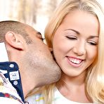 First pic of Hardcore blonde Christen is sucking this nice pole and swallowing -  Blowjob hard blonde