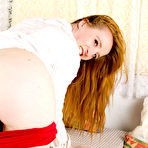 Third pic of Redhead amateur Sabrina Jay unzips to toy her overly horny pussy  pussy redhead horny red toy