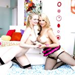 Third pic of Mesh stocking wearing Sarah Vandella and Alli Rae stretch asses wide open - PornPics.com