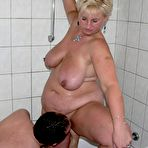 Fourth pic of Homemade photo set: young dude licks pussy and fucks fatty mature woman