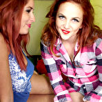 First pic of Redhead lesbian girlfriends having fun in a tent