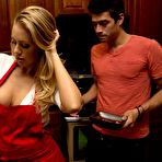 Second pic of Bodacious blonde Nicole Aniston craves a cock in the kitchen and gets a real big one