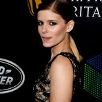 Fourth pic of Kate Mara showing huge cleavage in black lace high-slit gown at 2017 AMD British Academy Britannia Awards in Beverly Hills