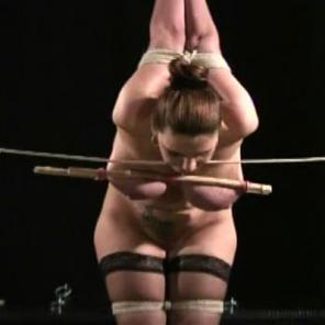 Breast Bondage Caning #136856