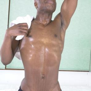 Black Gay Shower Stroking #210762