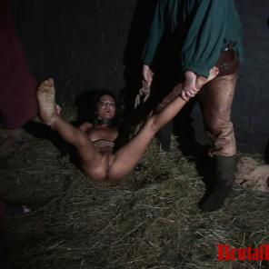 Brunette Janessa is forced to endure BDSM gangbangs at the hands of her jailors #212815