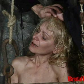 Blonde Romina gets thrown in a dungeon and forced to endure bdsm gangbangs #215697