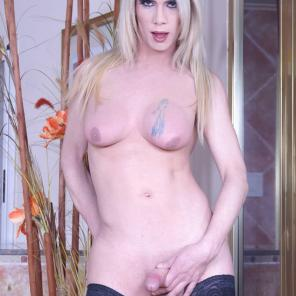 Blonde Trans Spreads For Anal #243391
