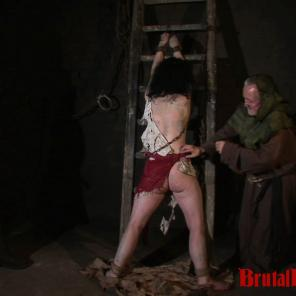 Brunette Loredana is down in a dungeon where she only experiences BDSM gangbangs #343005