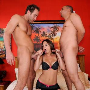 Nude porn Pics with Stocking Threesome Fuck