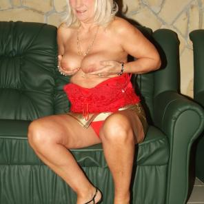 Flabby Tits Granny Tease #454586