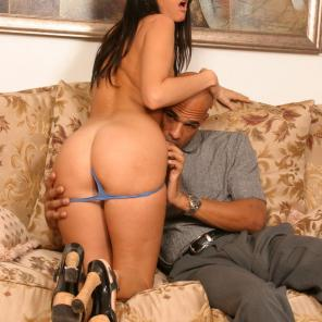Mean Interracial Threesome #535099