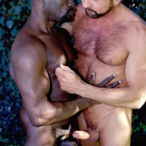 Nude porn Pics with Interracial Gay Cock Wanking