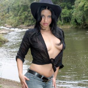 Nude porn Pics with Slutty Cowgirl Latina