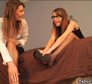 Kaci and Trish Give Their Sore Feet to their Neighbor #554656